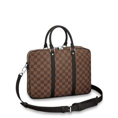 Louis Vuitton LV Men Porte-Documents Voyage PM in Damier Graphite Canvas Luxury Designer Handbags OFF Sale Louis Vuitton LV Gucci Chanel Dior Fendi Louis Vuitton Hombre, Tienda Louis Vuitton, Louis Vuitton Store, Louis Vuitton Damier, Lv Men, Gucci Sylvie, Louis Vuitton Official Website, Designer Clothes For Men, Brown Bags