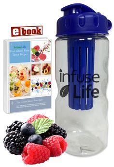 Fruit-Infuser Water Bottle - Drink more water the fun way! Click the link to get yours! http://www.amazon.com/dp/B00U5CXE56 #water #hydrate #healthyeating #fitness