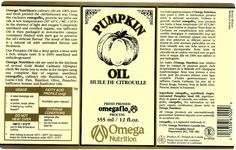 Throw Back Thursday, Pumpkin Oil label circa 1996. Did you know that Omega Nutrition oils have been used in the kitchens of several Gold Medal Culinary Olympic chefs? Visit our website www.omeganutrition.com for recipes.