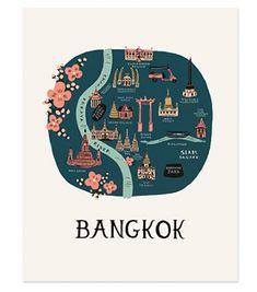 Selección de pósters de ciudades ilustradas diseñados por Rifle Paper Co. ¡Bonitismo puro!