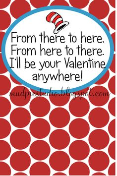 Valentines Day Dr. Seuss Suess Tag Topper Label by themudpiestudio