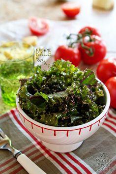 Sesame Kale Salad | FamilyFreshCooking.com