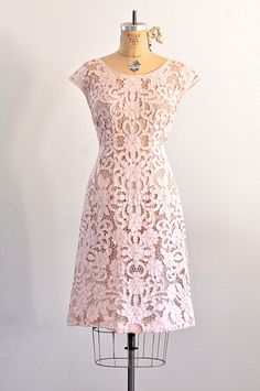 vintage 1960s dress razook's linen cutout by PickledVintage
