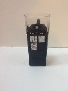 Hand Painted Dr. Who Tardis Kitchen Glass. $25.00, via Etsy.