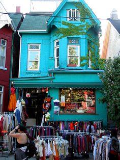 Kensington Market, Toronto, Ontario - I spent the summer of 1978 in Toronto, and we visited Kensington Market several times.