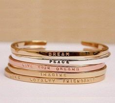 gold, silver, rose gold.
