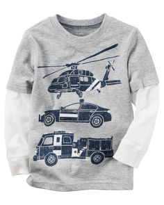 Toddler Boy Long-Sleeve Layered-Look Rescue Car Graphic Tee from Carters.com. Shop clothing & accessories from a trusted name in kids, toddlers, and baby clothes.