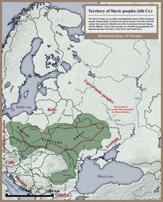 Slavic peoples 6th century historical map - Slavs - Wikipedia, the free encyclopedia