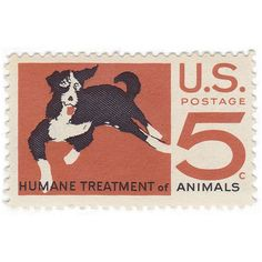 "Humane Treatment of Animals"" Qty of 10 Unused Vintage Postage Stamps ..."