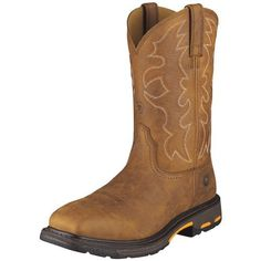 Ariat Men's Workhog Wide Square Boot Ariat. $166.85. Self cleaning, non-marking slip-resistant outsole. Rubber sole. Premium full-grain leather. leather. Stability chassis