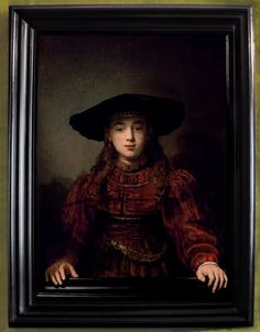 .:. Rembrandt 'The Girl in a Picture Frame' or 'The Jewish Bride' 1641