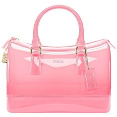 FURLA Candy M Rubber Colorblock Satchel found on Polyvore