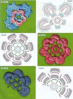 Цветы крючком в копилку мастера / Рукоделие