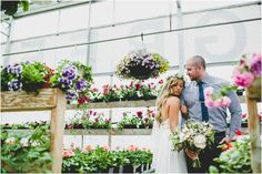 Nicole + Chad, Boho wedding inspiration - this beautiful garden themed wedding was not stifled by the rain, with gorgeous greenhouse photos in Winnipeg, MB Canada. Ceremony and reception at The Gates On Roblin