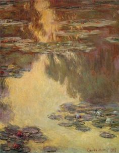 Claude Monet Water Lilies, 1907 oil on canvas, ...