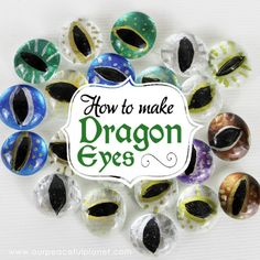 How to make dragon eyes from flat craft stones/marbles