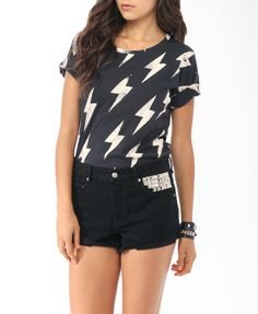 love this shirt Lightning Bolt Tee | FOREVER21 - 2017306511