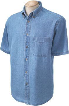 Harriton Men's 6.5 oz. Short-Sleeve Denim Shirt 2XL Light... https://www.amazon.com/dp/B006HT3BRC/ref=cm_sw_r_pi_dp_x_RIZezb6PE1AB2