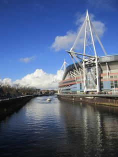 Gorgeous views outside the Millennium stadium in Cardiff