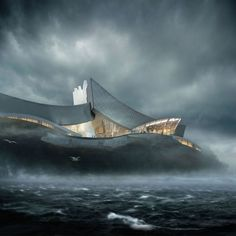 Crashing Waves – Tongyeong Concert Hall by Form4architecture