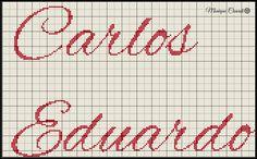 Nome em ponto cruz Carlos Eduardo