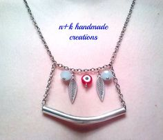 Handmade silver chain necklace. by thenkcreations on Etsy