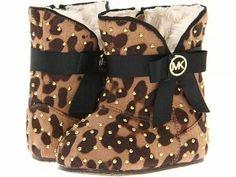 Leopard Print Michael Kors baby booties
