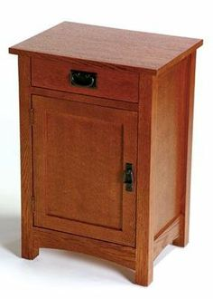 Arts and Crafts Mission Telephone Stand - 9185 by Arts and Crafts. $319.00. Free Shipping. USA Northern Red Oak All veneer is USA Quarter Sawn Solid top construction All joints are mortise and tenon English dovetailed drawers Screwed on ply case backs - no staples Dimensions: 20W x 15D x 29H For more information on Arts and Crafts construction click HERE