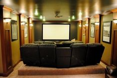 Cool Small Room Home Theater Ideas – raised back row excellent idea – Media Room İdeas 2020