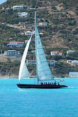 St Marteen - I steered the sailboat