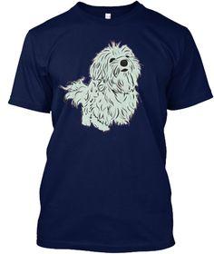 Cute Dog T Shirt   Buy T Shirt Online Navy T-Shirt Front