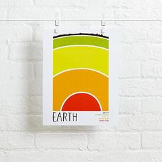 """Earth Science Wall Art (Earth)  