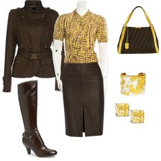 Work outfit by losipchak on Polyvore featuring polyvore, fashion, style, Louis Vuitton, 19.70, RED Valentino, Naturalizer, Fendi, Fantasia by DeSerio and Évocateur