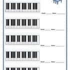 THREE very handy sheets that I use over and over again with my music classes: Blank diagram pages for keyboard, guitar and bass guitar. CLICK on ...