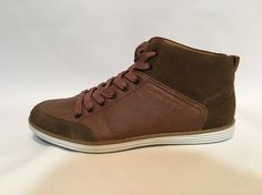 Calvin Klein CK Jeans Men's Leather Suede High Fashion Sneakers Brown Sz 9 | eBay