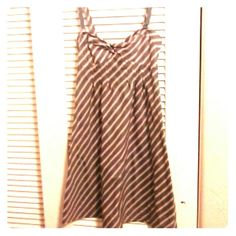 PRICE REDUCED! Dress Orange and gray stripped dress American Eagle Outfitters Dresses