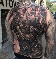 Wonderful Back Tattoo Ideas for Men & Women - Wild Tattoo Art - Full back tattoo - Love Tattoos With Names, Cool Back Tattoos, Back Tattoos For Guys, Back Tattoo Women, Lower Back Tattoos, New Tattoos, Girl Tattoos, Large Tattoos, Black Tattoos