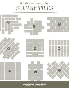 9 DIfferent Ways to Lay Subway Tiles - Sebring Services