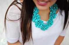 WAREHOUSE BLOWOUT! Rosette Statement Necklace - 7 Colors! 91% off at Groopdealz