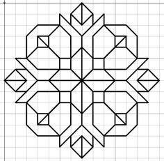 Embroidery Pattern free blackwork embroidery motif and fill patterns Blackwork Patterns, Blackwork Embroidery, Embroidery Motifs, Paper Embroidery, Cross Stitch Patterns, Flower Embroidery, Cross Stitches, Graph Paper Drawings, Graph Paper Art