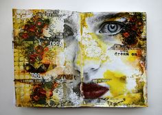 Dream On journal spread by Gayle