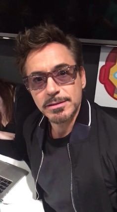 "Robert Downey Jr. at the Buzzfeed ""Captain America: Civil War"" online Q&A, March 10, 2016."
