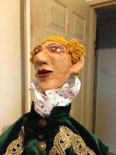 Baron Munchausen Hand puppet - paper mache