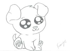 drawings dog drawing cartoon dogs easy puppy sketch sketches simple draw pencil puppies animals animal realistic kitten clip paintingvalley eyes