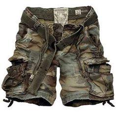 Cool camo cargo shorts