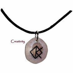 Artículos similares a Creativity Bone Bind Rune Necklace en Etsy Rune Reading, Witch Board, Viking Symbols, Norse Mythology, Magick, Beautiful Necklaces, Rose Quartz, Washer Necklace, Gemstones