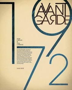 Avant Garde poster. Herb Lubalin & Tom Carnase