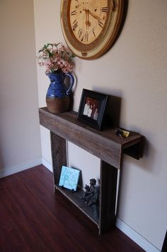Skinny Wood Console Table. 27x6x30 Farmhouse by TRUECONNECTION