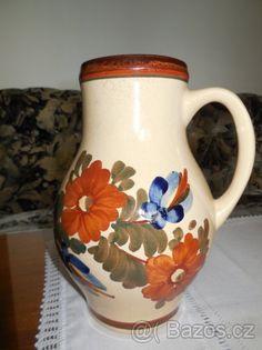 Chodská keramika-ručně malovaný džbán - 1