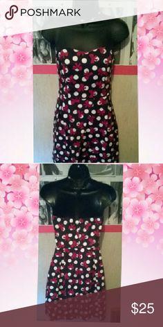 Elegant strapless polkadot bow dress Polkadot pink bow dress worn once Trixxi Dresses Mini
